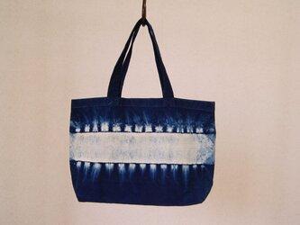 天然藍のトートバッグ の画像