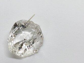水晶原石プラチナペンダントトップの画像