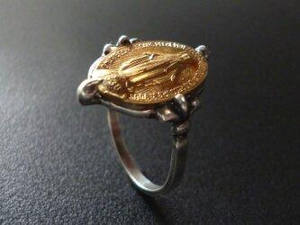 フランス奇跡のメダイのリング - goldの画像