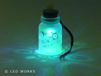 光る小びん  バブル<泡模様>(変色電球)の画像