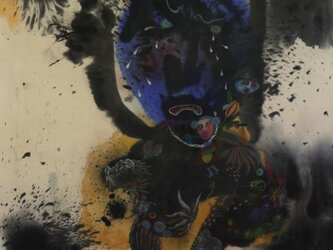 泣く人/ 現代アート絵画/ 墨の世界/ 水墨画/ 彩墨画/美術工芸/ 陶芸家池田幸蓮ーone art galleryの画像