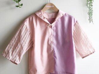 2カラー+ストライプのシャツの画像