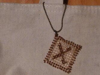 アルファベット ビーズ チャーム Xの画像