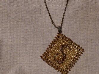 アルファベット ビーズ チャーム Sの画像