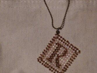 アルファベット ビーズ チャーム Rの画像