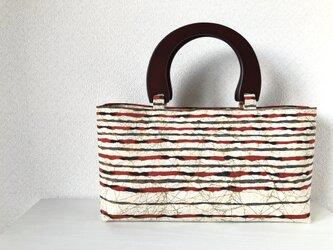 帯バッグ〜縞〜の画像