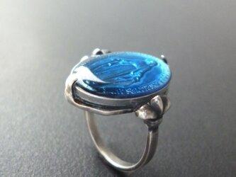 フランス奇跡のメダイのリング - blueの画像