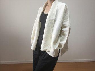リネン羽織りブラウス(アンティークホワイト)の画像