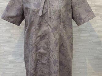 チュニックワンピース(着物リメイク)の画像