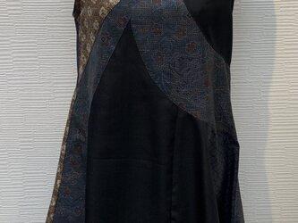 ジャンパスカート(着物リメイク)の画像