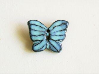 陶ブローチ 水際の蝶の画像