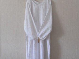 【E様ご注文品】木綿のかっぽう着 白レース 2着の画像