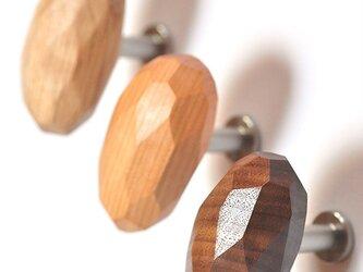 木製コートハンガー/3個/ショコラ HS-A45 オーク/チェリー/オールナット 【樹種を選べる2700円もお得な3個セット】の画像
