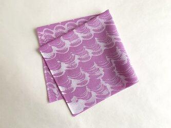 手染ふきん(波・赤紫)の画像