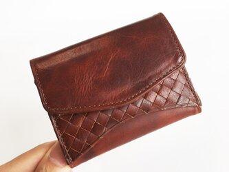 """[小さな三つ折り財布] """"Jack""""マイクロウォレット < Brown> 名入れ・ギフト包装無料の画像"""