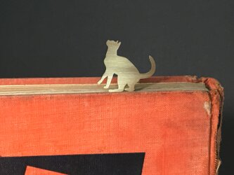 Cat-11 Brass bookMark Largesize(Oder Production) ネコ ブックマークの画像