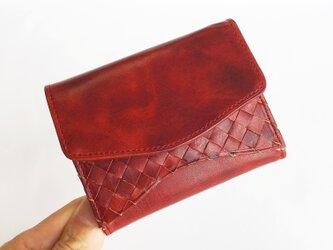 """[小さな三つ折り財布] """"Jack""""マイクロウォレット < D.Red> 名入れ・ギフト包装無料の画像"""