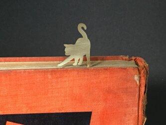 Cat-12 Brass bookMark Largesize(Oder Production) ネコ ブックマークの画像