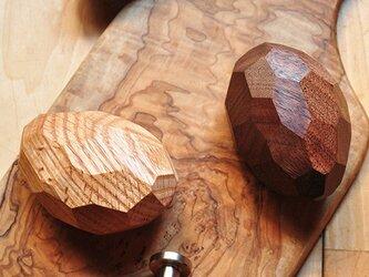 木製コートハンガー/3個/ショコラ HS-B45 オーク/チェリー/オールナット《フランスM.O.F.パティシエ絶賛!》の画像