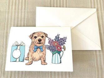 多目的に使えるかわいい二つ折りカードの画像