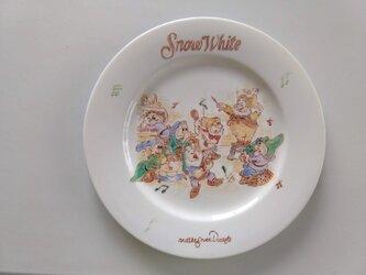 ★一点物★手描きディナー皿★小人たち★の画像