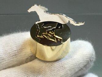Horse-1 Mini PaperWeight Silver+Brass <受注制作 5日>の画像