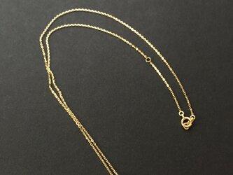10k NY産ハーキマーダイヤモンドのスルーネックレスの画像