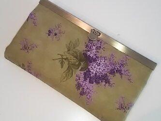 moda 花柄(紫花) 長財布の画像