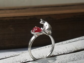 ルビーと猫 * Ruby & Cat Ringの画像
