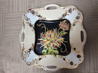 四方手付き透かし深皿の画像