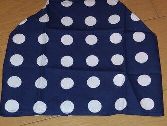 ハンドメイド 大人用三角巾 ドット柄 紺 の画像
