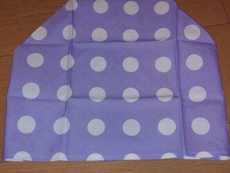 ハンドメイド 大人用三角巾 ドット柄 紫の画像
