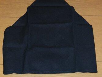 ハンドメイド 子供用三角巾 黒無地 の画像