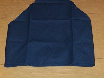 ハンドメイド 子供用三角巾 紺無地 の画像