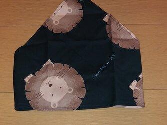 ハンドメイド 子供用三角巾 ライオン柄  の画像