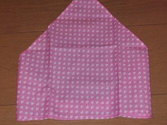 ハンドメイド 子供用三角巾 ハート柄  の画像