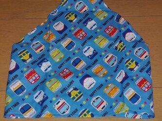 ハンドメイド 子供用三角巾 電車柄  の画像