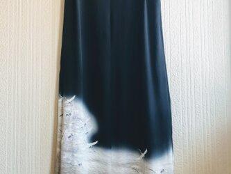 留袖ドレス  鶴   ボレロの画像