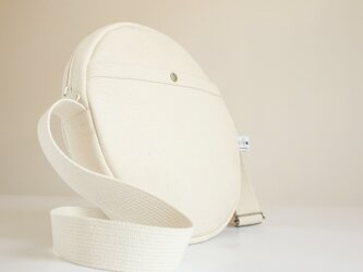 丸型倉敷帆布ショルダーバッグ 生成り MS30ECRの画像