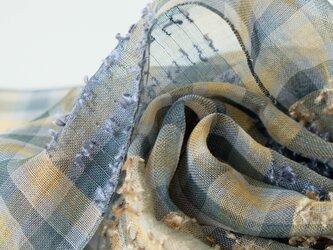 手織りリネンストール【芳風*01】の画像