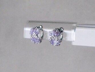 紫陽花のイヤリングの画像