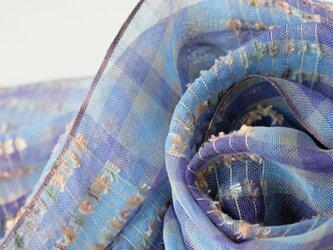 手織りリネンストール【芳風*03】の画像