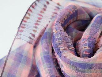 手織りリネンストール【芳風*04】の画像
