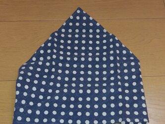 ハンドメイド 子供用三角巾 ドット柄 グレー   の画像