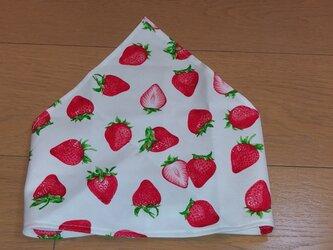ハンドメイド 子供用三角巾 イチゴ柄    の画像