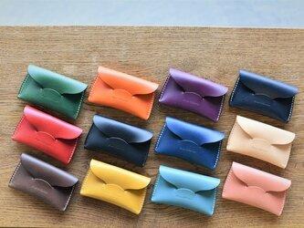 【カラーオーダー】16色ブッテーロ  手縫いカードケース 名刺入れにもの画像