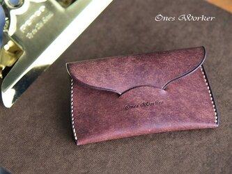 プエブロ【タバコ】スリムな手縫いカードケース 名刺も入るコンパクトサイズの画像