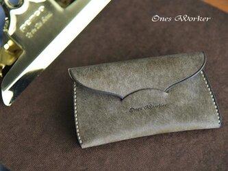 プエブロ【グリージオ】スリムな手縫いカードケース 名刺も入るコンパクトサイズの画像