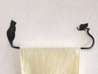 親子猫のタオルハンガーの画像