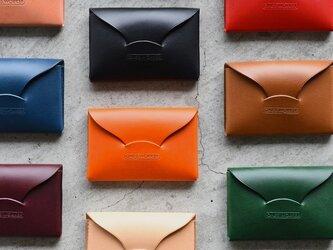 【カラーオーダー】ブッテーロ  手縫い名刺入れ ビジネスカードケース  名入れ可能 の画像